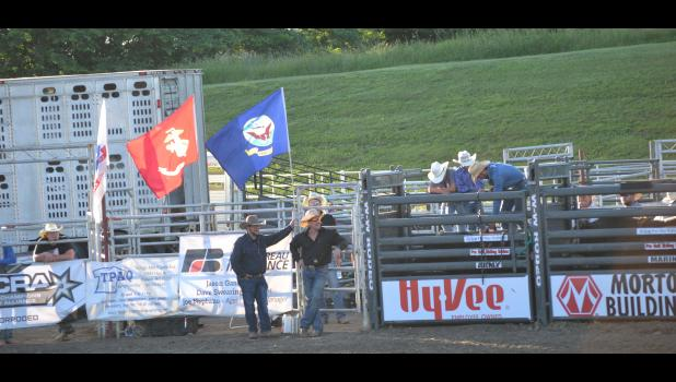 Getting the chutes ready.