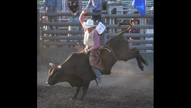 Bull rider Daniel Keeping came in 3rd place Saturday night with 79 points.