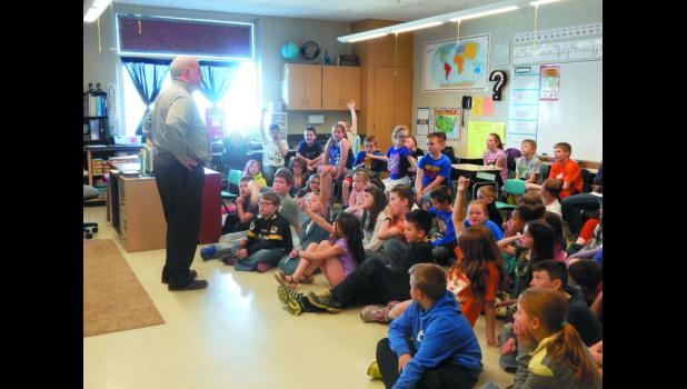 Rep. Neely at the elementary school
