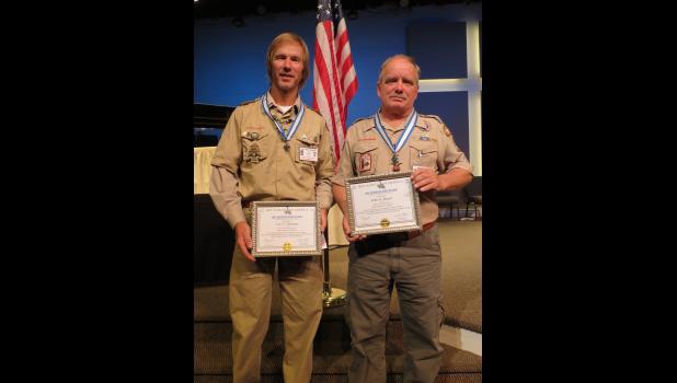 Van Dunham and John Rupert, recipients of the Silver Beaver Award by the Pony Express Council.