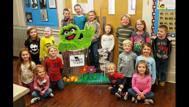 """Congratulations to PK-1 students at Cowgill Elementary on winning the K-2 grade category and the grand prize for their entry, """"Oscar will be your fan, if you keep it in the can!!"""""""