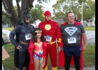 These Superheros won the medal for the Best Superhero Team: Orrin Knight, Tisha Hibler, Bill Youtsey and Dennis Lund.