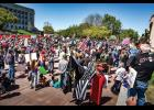 Thousands of Missourians gathered in Jefferson City in April to protest Governor Parson's stay-at-home order.